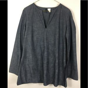 J crew chambray tunic top size 4